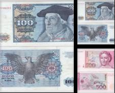 Banknoten Sammlung erstellt von Versandhandel für Sammler