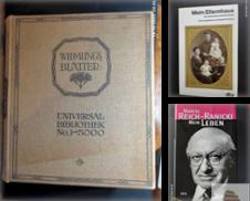 Biographien Sammlung erstellt von Antiquariat-Fischer - Preise inkl. MWST