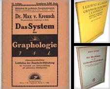 Charakterkunde, Handlesen, Graphologie Sammlung erstellt von Versandantiquariat Hans-Jürgen Lange