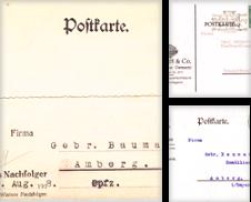 Hist Geschäftspostkarten Sammlung erstellt von Martina Berg (Die Bücher-Berg)