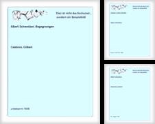 Albert Schweitzer Sammlung erstellt von Celler Versandantiquariat