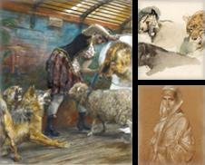 Deutsche Meisterzeichnungen von 1848 bis 1925 Sammlung erstellt von Kunkel Fine Art