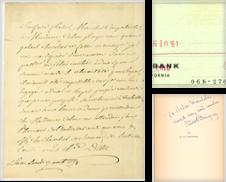 Autographs, Letters and Archives Sammlung erstellt von Max Rambod Inc