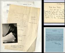 01 Autographen (LITERATUR) Sammlung erstellt von Eberhard Köstler Autographen&Bücher oHG