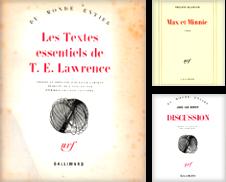 GALLIMARD-La Blanche Sammlung erstellt von Librairie l'Aspidistra