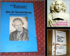 Biographie Sammlung erstellt von Antiqua U. Braun