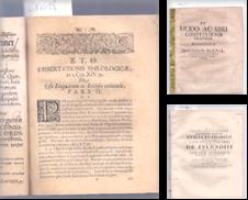 Alte Dissertationen & Programmschriften Sammlung erstellt von Antiquariat Winfried Scholl (VDA/ILAB)