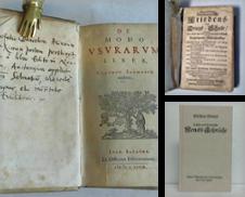 Alte Drucke vor 1850 Sammlung erstellt von Celler Versandantiquariat